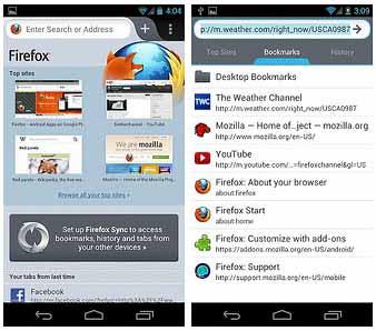 Review Kelebihan Mozilla Firefox 14 Untuk Android