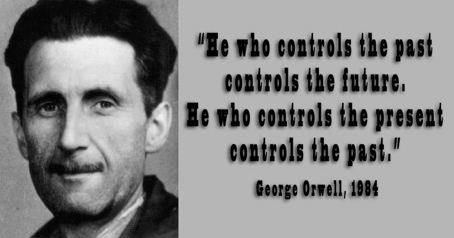 whoever controls the media also controls George orwell — 'who controls the past controls the future who controls the present controls the past'.