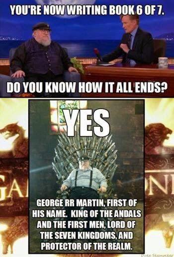 George R.R. Martin Meme