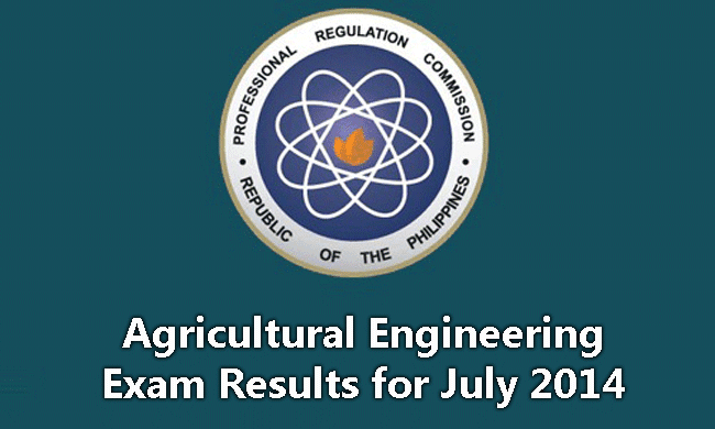 Agricultural Engineering Exam Results for July 2014