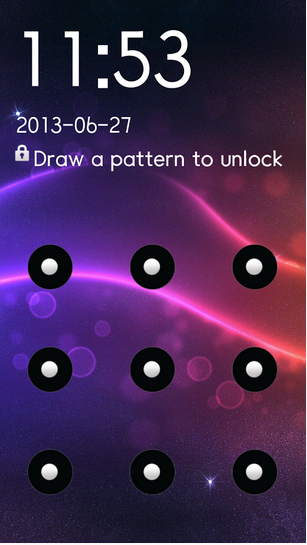 sms pattern lock screen shots