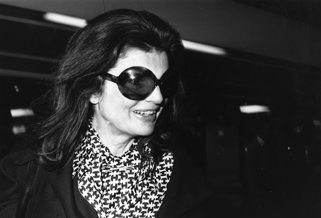 Jackie in signature sunglasses 1975