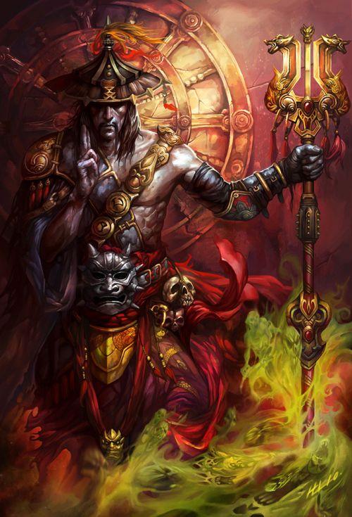 Lu Hua ilustrações arte conceitual fantasia games Exorcista
