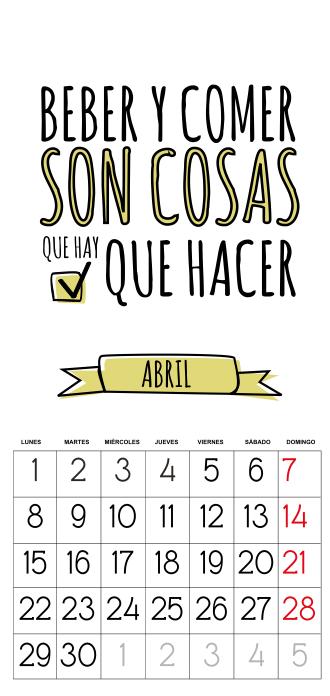 calendario 2013 gratis abril