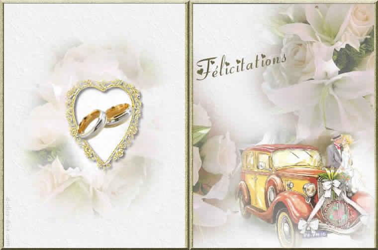 Berühmt Cartes d'invitation de mariage gratuites a imprimer – Votre  QN18