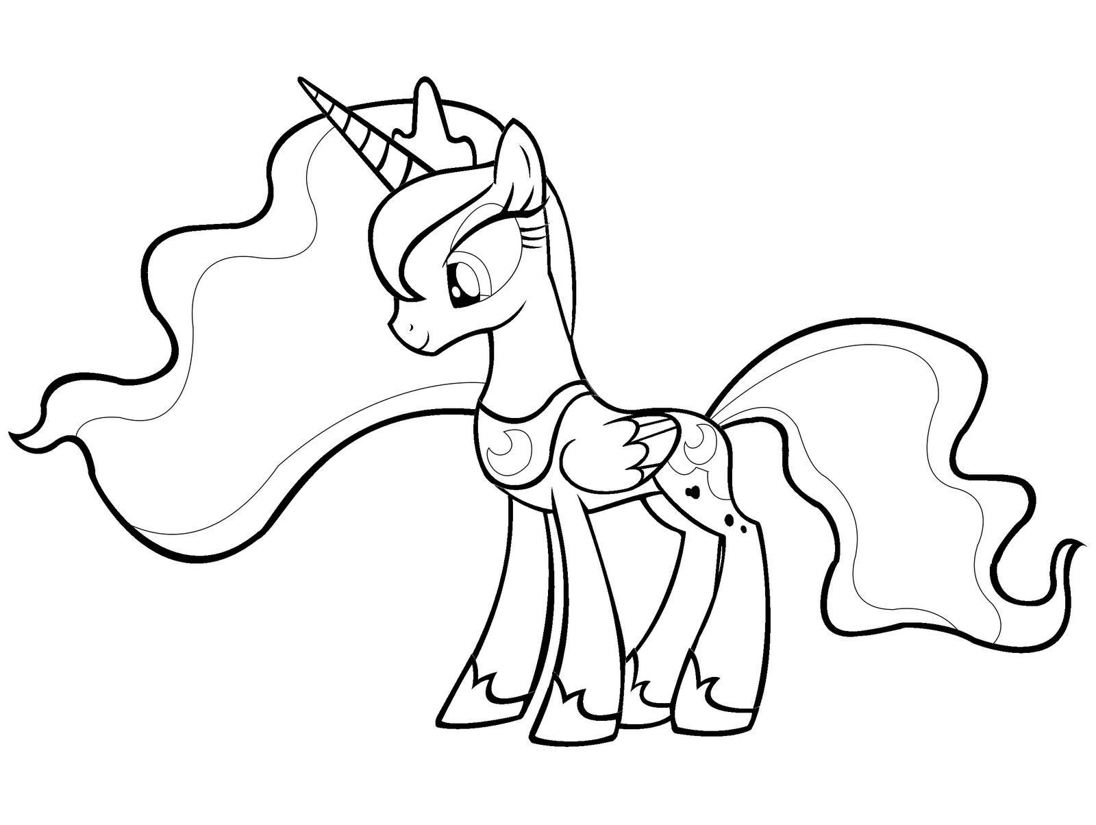 My Little Pony Coloring Pages Princess Luna : Free coloring pages of r luna