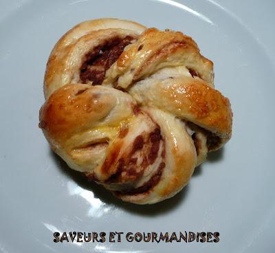 Brioches torsadées à la pâte de haricots rouges