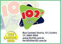 ouvir a Rádio 102 FM 102, Bragança Paulista SP