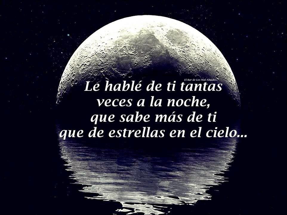 Frases de amor, hablé, noche, estrellas, cielo.