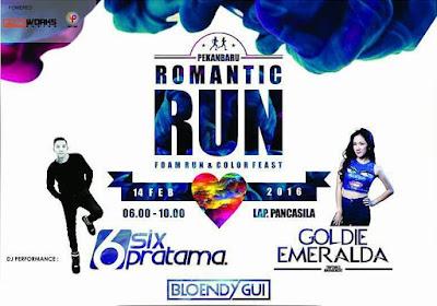 Romantic Run 2016 Vlaentine Run Pekanbaru, lomba lari valentine lapangan pancasila