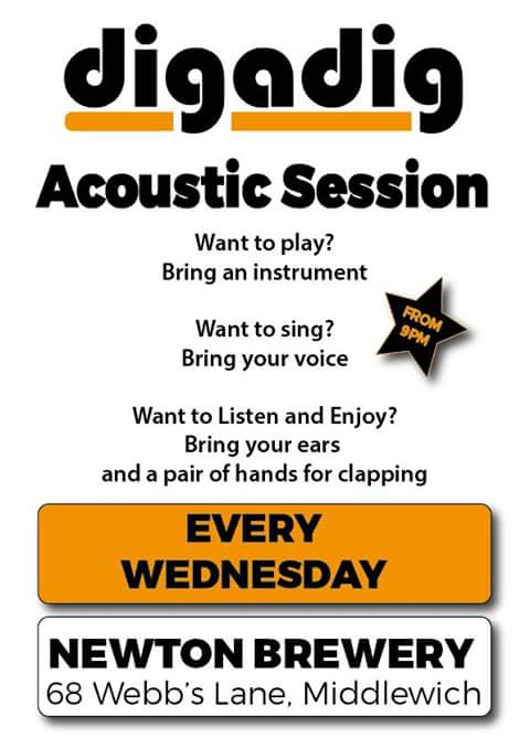 MUSIC IN MIDDLEWICH:ACOUSTIC SESSIONS AT THE NEWTON BREWERY