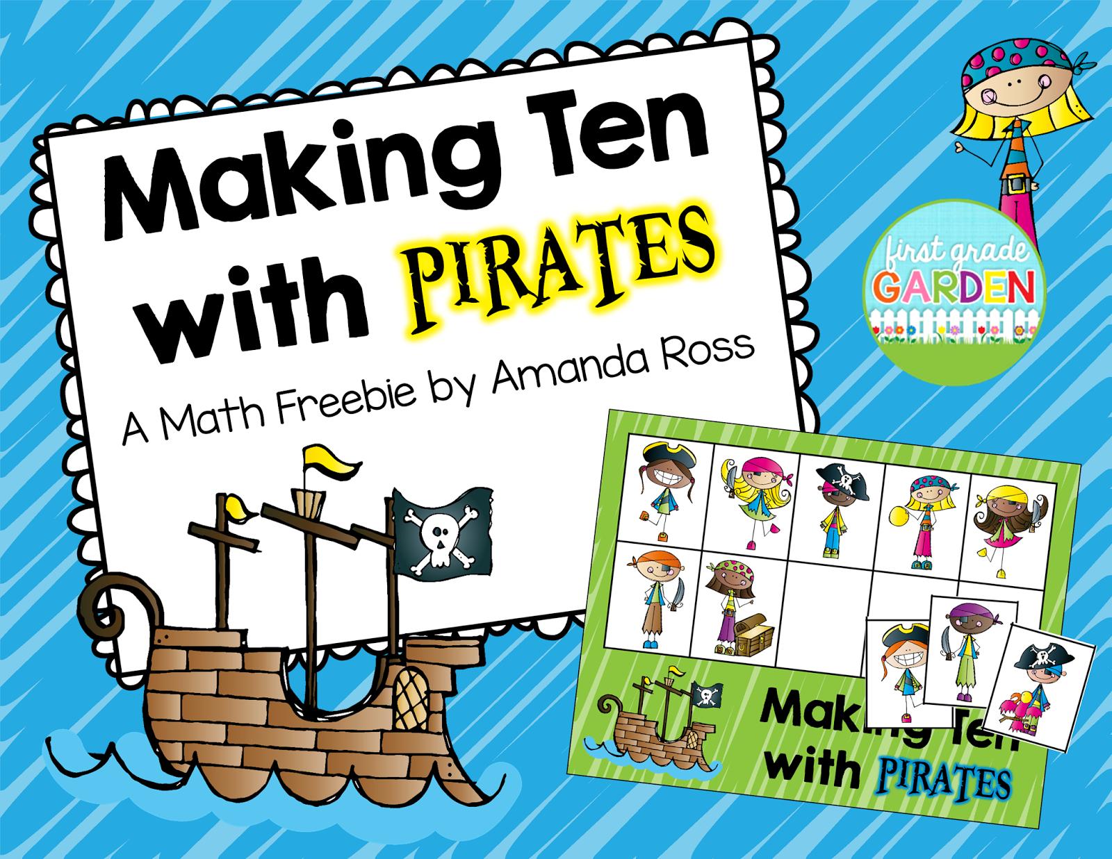 first grade garden math book monday ten little pirates