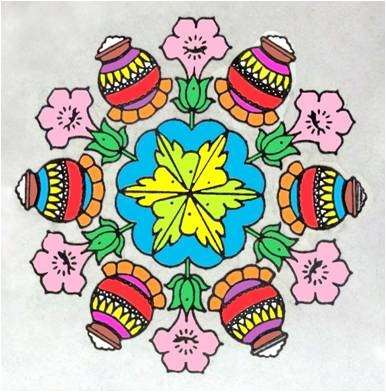 Diwali Rangoli Patterns: Latest 2012 Deepavali Rangoli Designs Images