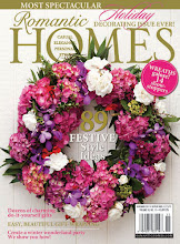 See Our Christmas Table in the November 2011 issue of Romantic Homes Magazine