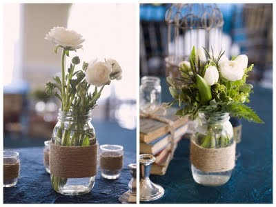 10 DIY Mason Jar Wedding Ideas by Oh Lovely Day