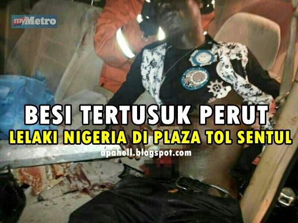Tiang Lampu Jalan Robek Perut Lelaki Nigeria (5 Gambar)