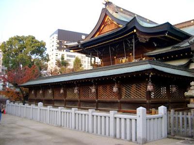 Tenjinbashi Shoutengai Temple Osaka Japan