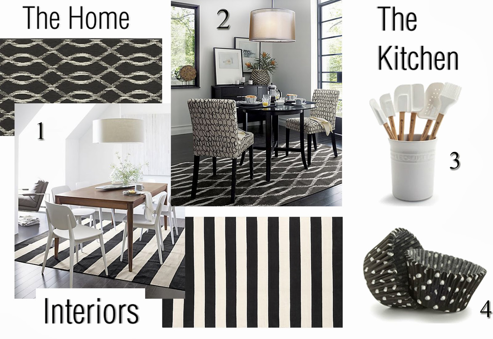 Black and white patterns Trends patterns Interiors rugs