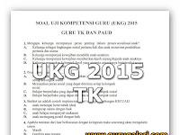 Soal UKG Guru TK Update 31 Oktober 2015