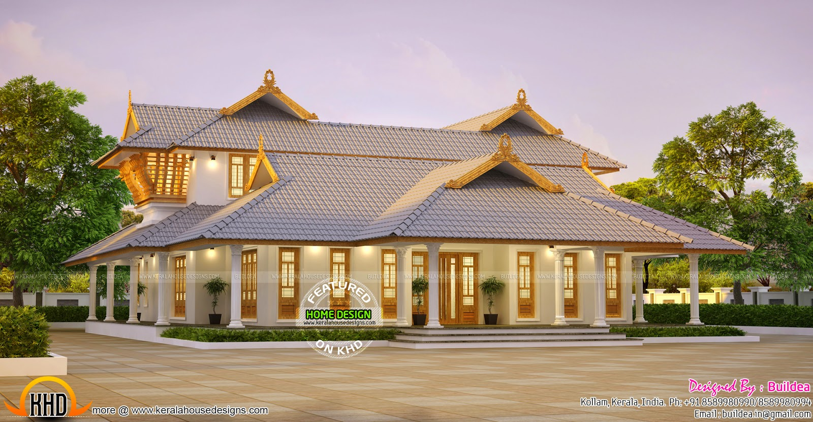 Stunning kerala home kerala home design and floor plans for Design for house