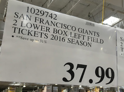 Yellow level tier price for 2 lower box San Francisco Giants tickets