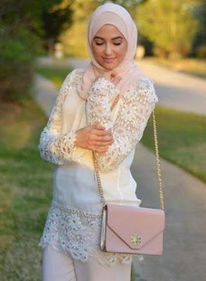 Aneka model baju atasan muslim wanita bahan rajut