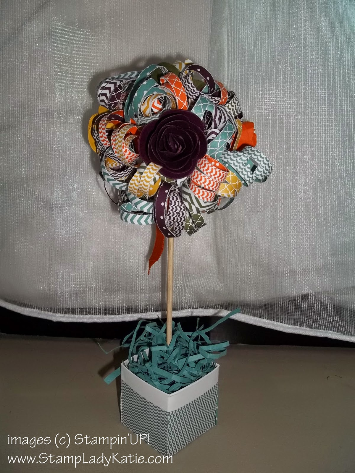 Table Decoration: Topiary Paper Tree