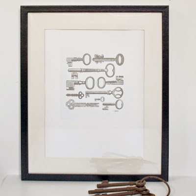 Victorian Keys A3 Silver Screen Print by We laugh indoors