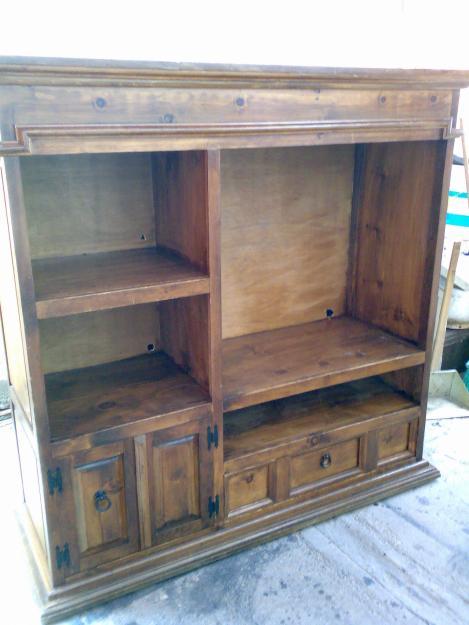 Muebles para tv en madera rustica - Muebles para la tele ...