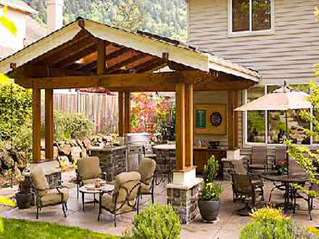 Backyard patio ideas for Backyard patio design ideas