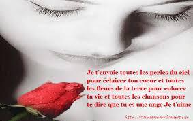 Message d'amour romantique