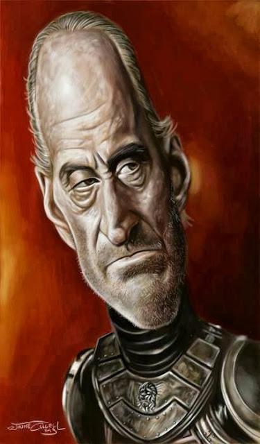 Caricatura de Tywin Lannister - Juego de Tronos en los siete reinos