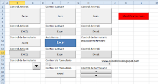 VBA: El objeto OLEObject en macros de Excel.