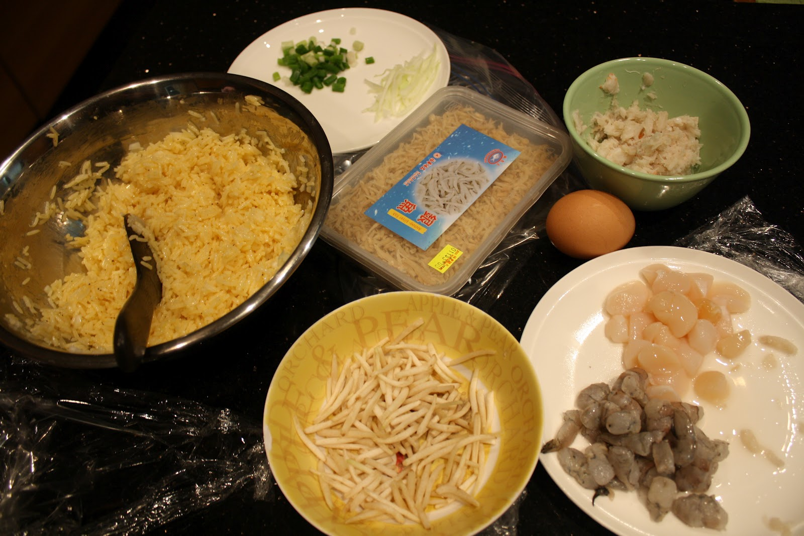 The food bairn pregnant woman fried rice and grilled pork belly fry some oil in a frying pan and cook the scallops the shrimp and the crab meat if the crab meat becomes too dry add some more oil ccuart Image collections