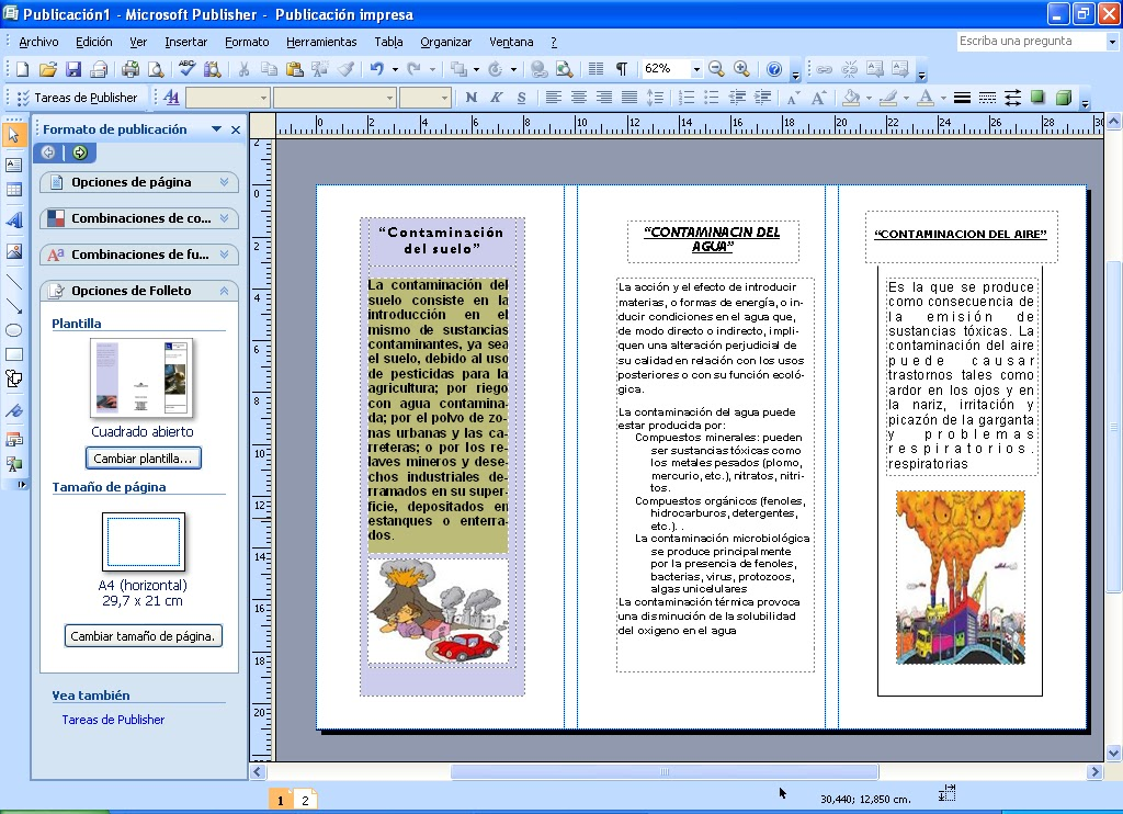 how to use microsoft publisher 2010 to make a brochure
