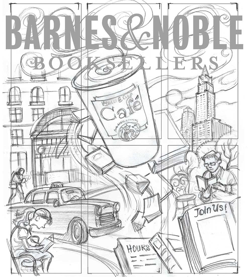 Barnes & Noble Tribeca Store Mural | LIFE NEEDS ART