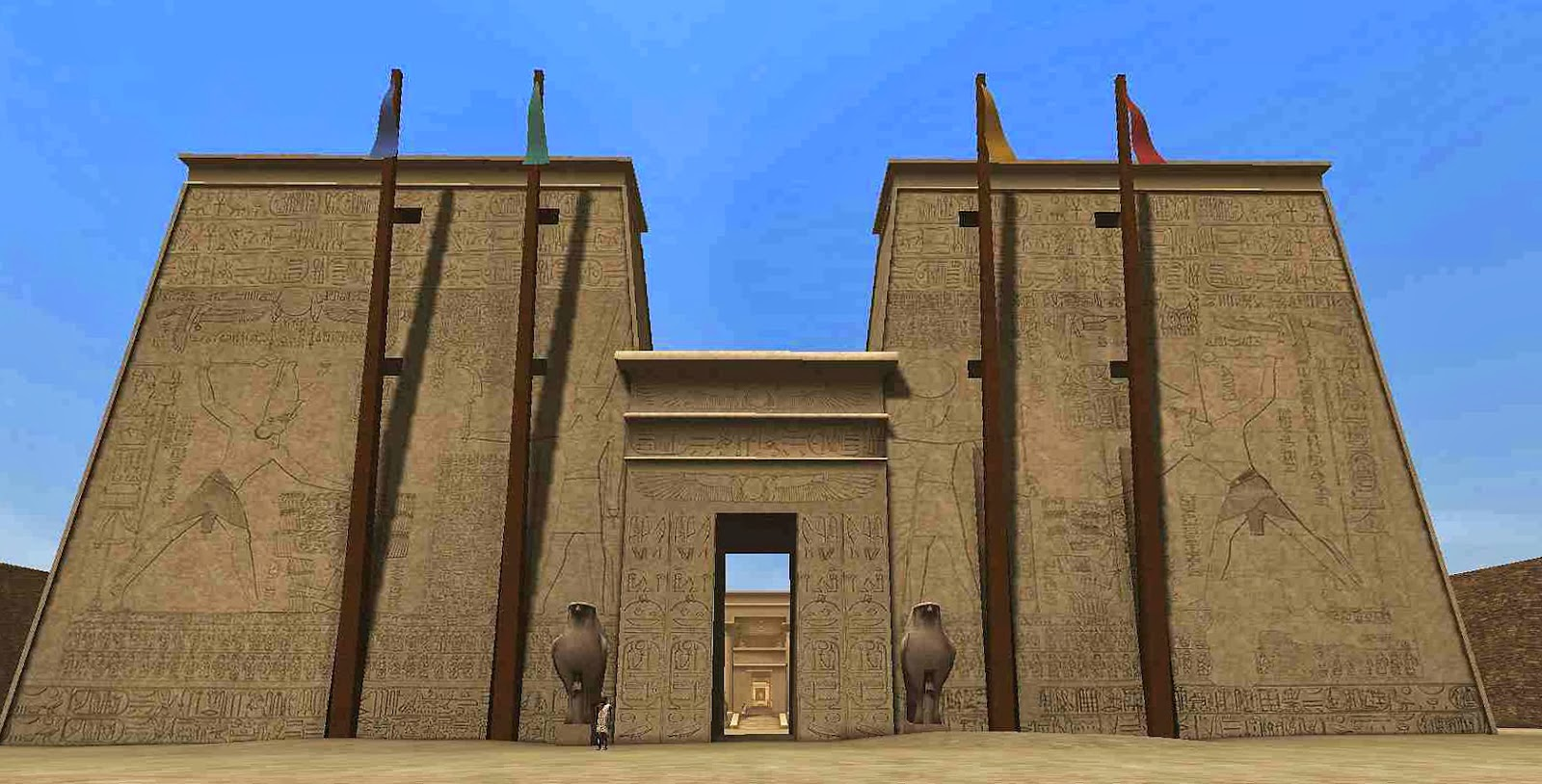 Dynasty zero egyptian inspiration for Pylon foundation