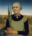 Grant Wood (38 años) - Mujer con plantas (Woman with Plants), 1929