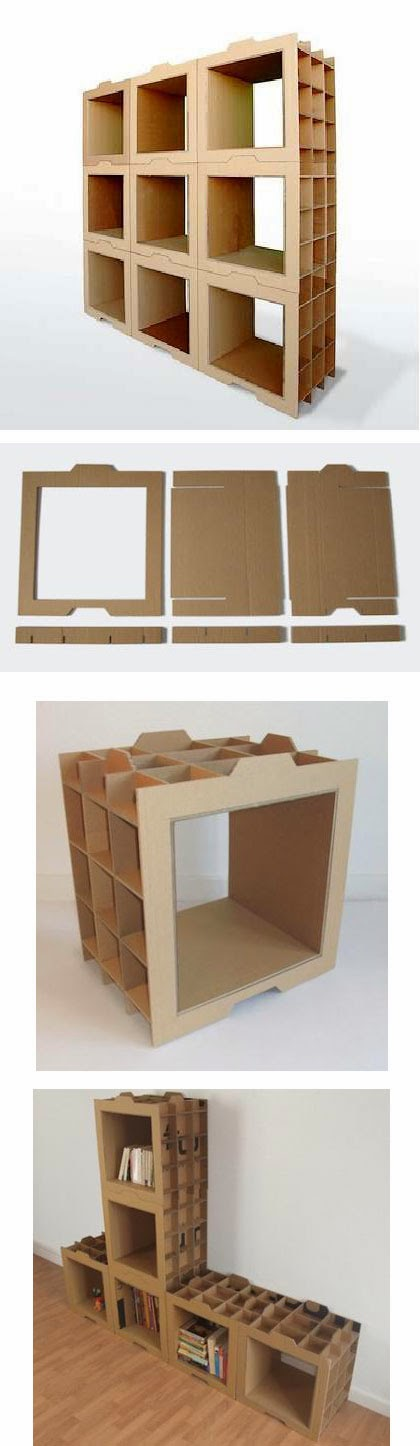 Reciclando diverso tutorial estantes con cart n for Estantes de carton