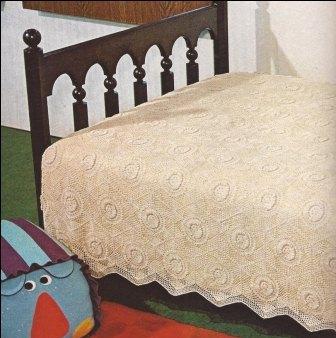 "Colcha ""Girasoles"" a Crochet"