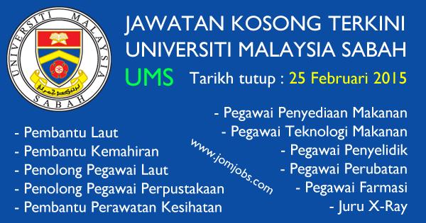 Jawatan Kosong UMS 2015 - Universiti Malaysia Sabah