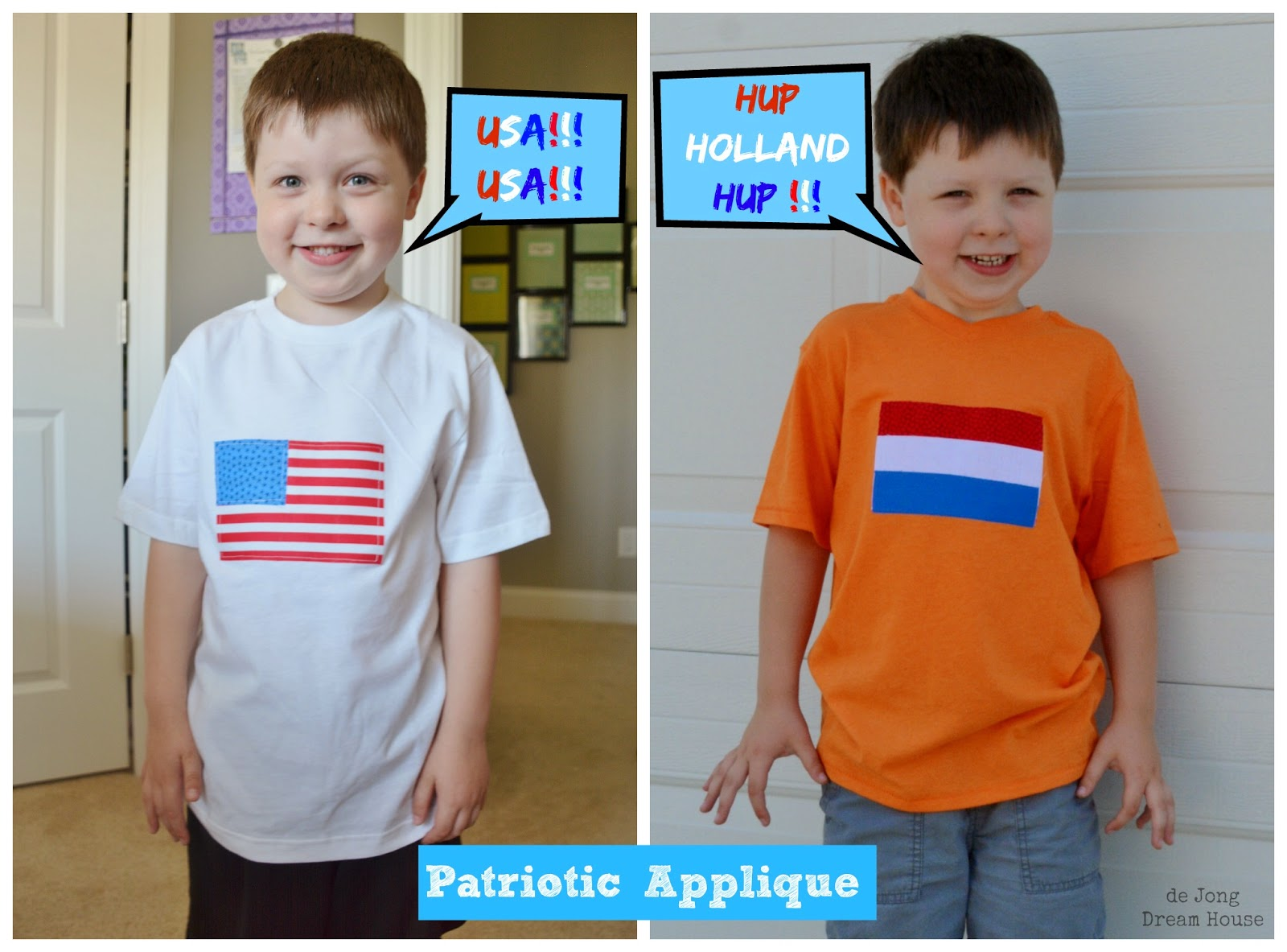 Patriotic applique shirts by de Jong Dream House