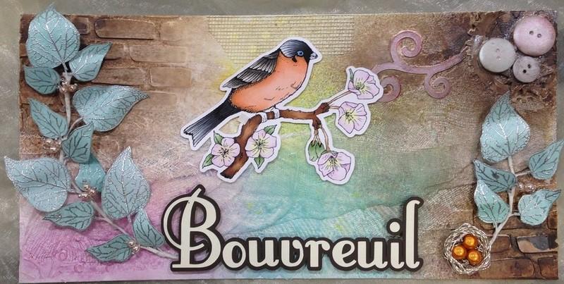 Le Délicat Bouvreuil - Scrapbooking