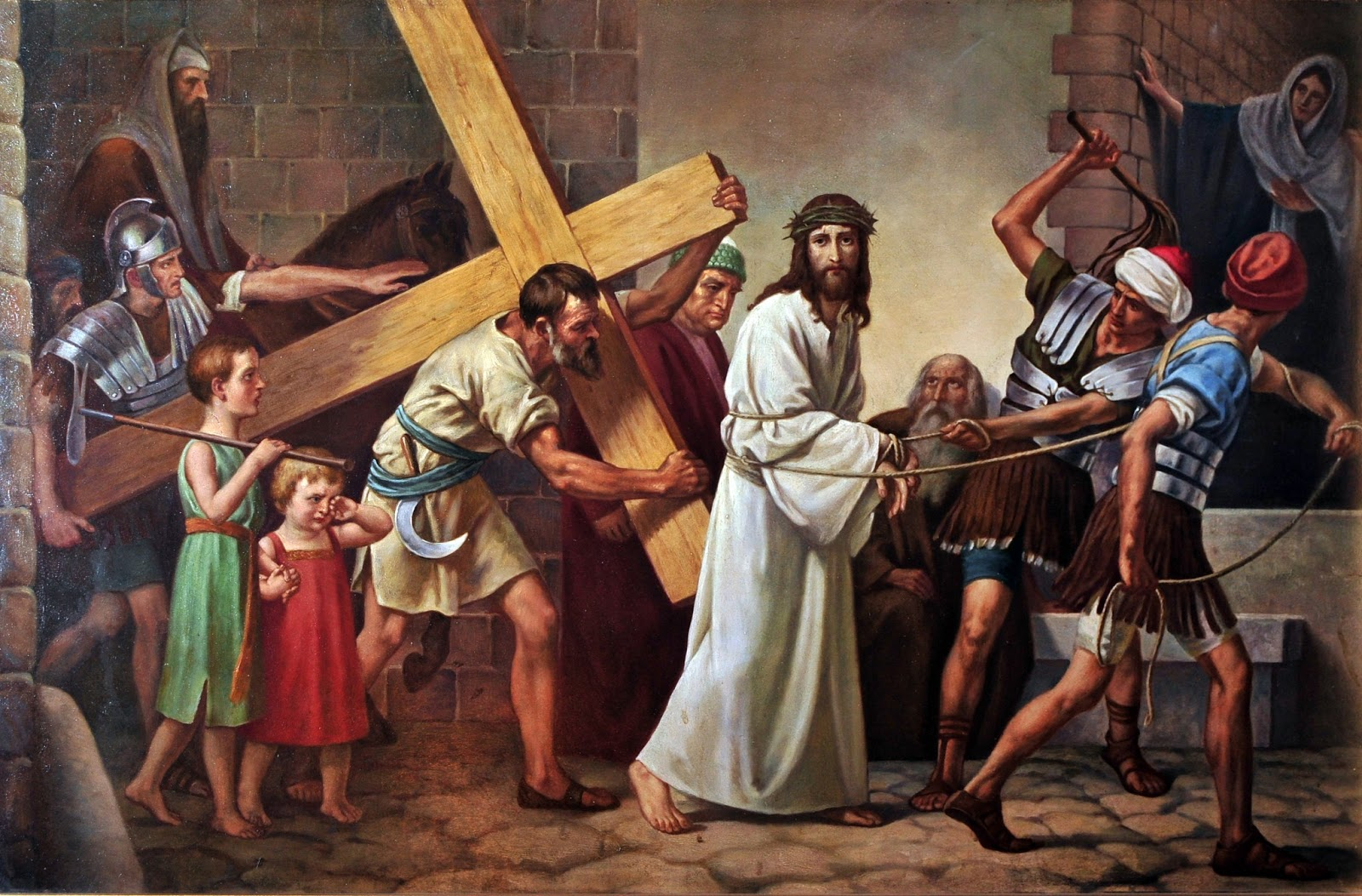 Jesus Carrying The Cross Painting Jesus to Carry His Cross