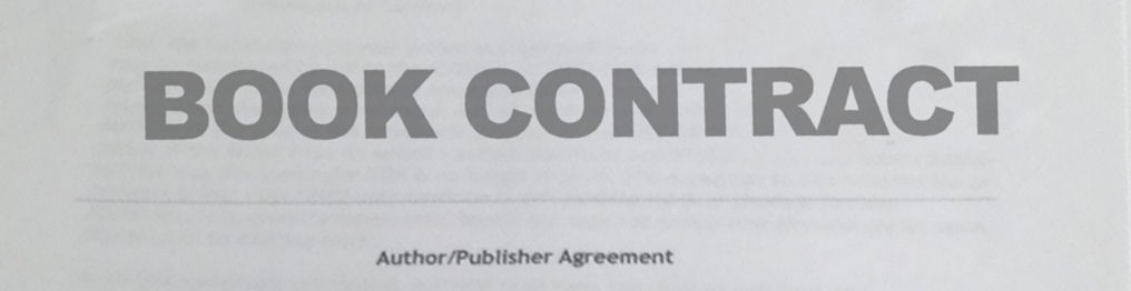 book writing contract A book contract is the legally-binding agreement between an author and the book publisher that dictates assignment of rights, obligations, and money.