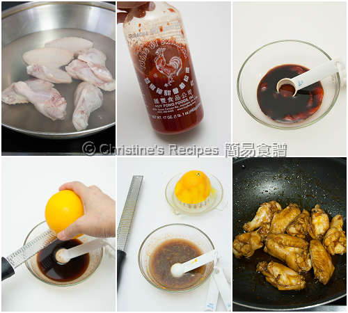 Orange-Honey Sriracha Chicken Wings Procedures