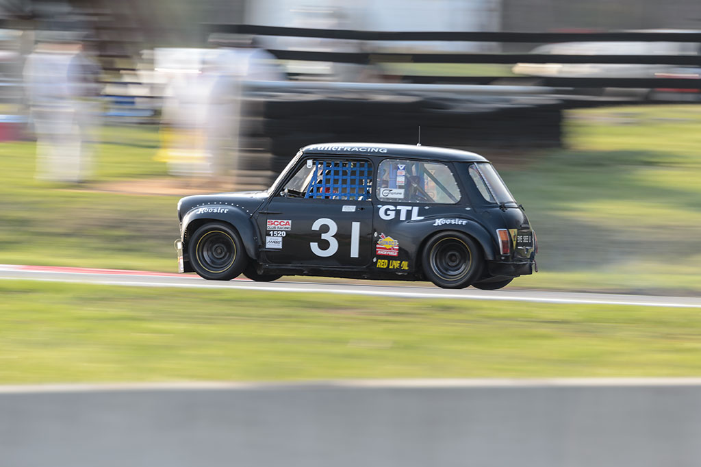 Graham Fuller's Austin Mini at Summit Point MARRS 1