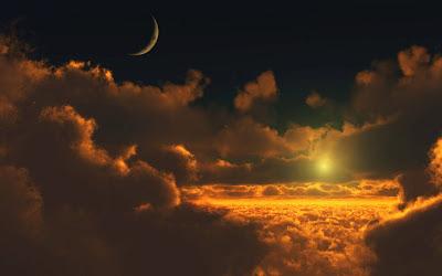 Foto cielo y nubes vistas desde arriba