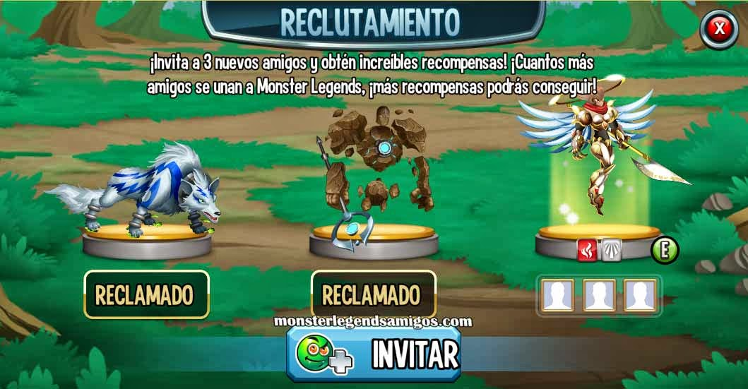 imagen de los monstruos exclusivos de la taberna de reclutamiento de monster legends