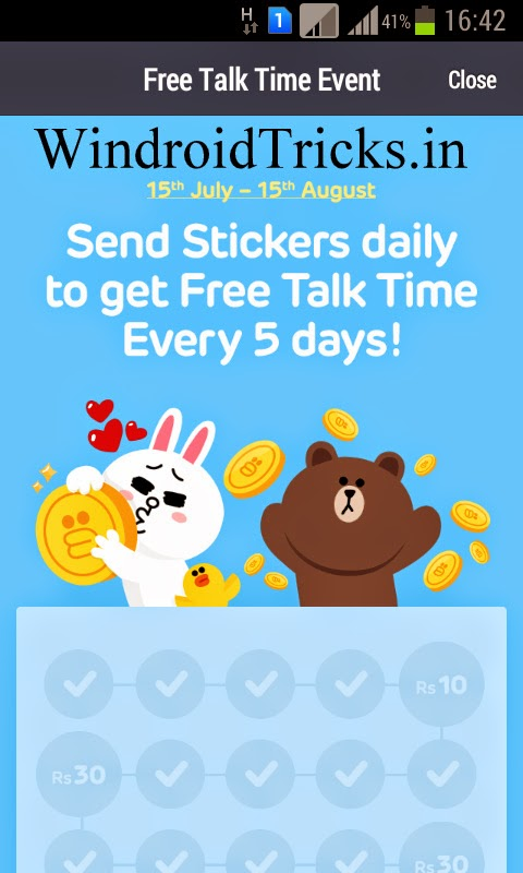 Get ₹ 130 Free Recharge with LINE App [Official Offer]